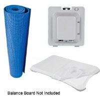 CTA Digital WI-WFK Wii Fit 3-in-1 Combo Kit  - Rechargeable Battery, Silicone Sleeve, Foam Mat