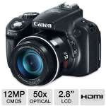 "Canon 6352B001 PowerShot SX50 HS Digital Camera - 12 Megapixels, CMOS Sensor, 2.8"" LCD, 50x Optical, Full 1080p HD Video, Black"