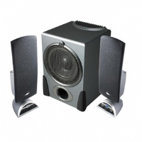 Cyber Acoustics CA-3550 2.1 Speakers - 2.1 Channels, 32 Watts RMS, 2.5&quot; High Efficiency Drivers, 20-Watts RMS 6.5&quot; Power Pro Series Subwoofer, Volume Control, Black 
