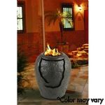La Jolla Waterfall  Fire Pit-Brown-Gas Logs