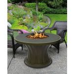Rodeo Chat Height Fire Pit-Sage-Gas Logs-Without Granite