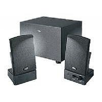 Cyber Acoustics CA-3001 - Speaker system - for PC - 2.1-channel - 14 Watt (total) (CA-3001WB)