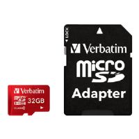 Verbatim Flash memory card ( microSDHC to SD adapter included ) - 32 GB - Class 10 - microSDHC (44044)