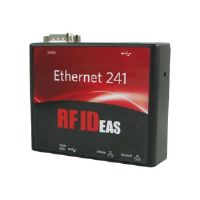 RF IDeas Converters Ethernet 241 - Network adapter - USB / RS-232 - 10/100 Ethernet x 2 - with RF Ideas pcProx Plus Enroll Black USB Reader