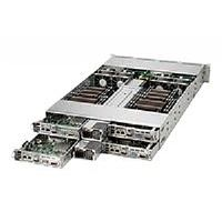 "Supermicro SuperServer 6028TR-HTR - 4 nodes - cluster - rack-mountable - 2U - 2-way - RAM 0 MB 3.5"" - no HDD - AST2400 - GigE - no OS - Monitor : none"