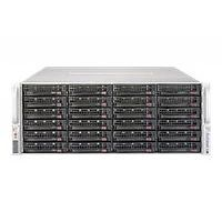 "Supermicro SuperServer 6048R-E1CR36H - Server - rack-mountable - 4U - 2-way - RAM 0 MB - SATA/SAS - hot-swap 3.5"" - no HDD - AST2400 - GigE, 10 GigE - monitor: none"