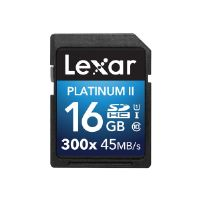 Lexar Platinum II - Flash memory card - 16 GB - UHS Class 1 / Class10 - 300x - SDHC UHS-I