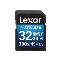 Lexar Platinum II - Flash memory card - 32 GB - UHS Class 1 / Class10 - 300x - SDHC UHS-I