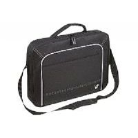 "V7 Vantage Frontloader - Notebook carrying case - 17"" - black with gray accents"