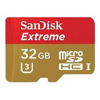 SanDisk Extreme - Flash memory card ( microSDHC to SD adapter included ) - 32 GB - UHS Class 3 / Class10 - microSDHC UHS-I