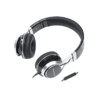Gear Head HS3500BLK - Headphones with mic - on-ear - 3.5 mm jack - noise isolating - black