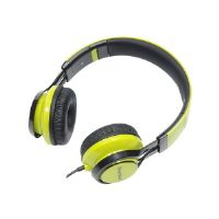 Gear Head HS3500GRN - Headphones with mic - on-ear - 3.5 mm jack - noise isolating - green