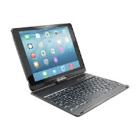 Targus VersaType - Keyboard and folio case - with power bank - wireless - black keyboard, black case - for Apple iPad Air 2