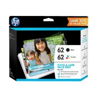 HP 62 Value Pack - 2-pack - black, color (cyan, magenta, yellow) - original - ink cartridge - for Envy 55XX, 56XX, 76XX; Officejet 250, 57XX, 8040