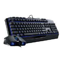 Cooler Master Devastator 2 Blue Version - Keyboard and mouse set - USB - US - black
