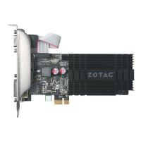 ZOTAC GeForce GT 710 - ZONE Edition - graphics card - GF GT 710 - 1 GB DDR3 - PCIe - DVI, D-Sub, HDMI - fanless
