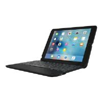 Incipio ClamCase+ Power - Keyboard and folio case - with power bank - Bluetooth - black keyboard, black case - for Apple iPad Air 2