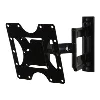 "Peerless PARAMOUNT Articulating Wall Mount PA740 - Mounting kit (articulating arm, adapter plate, hook bracket) for LCD / plasma panel (Tilt & Swivel) - gloss black - screen size: 22""-40"" - wall-mount"