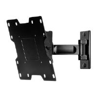 "Peerless PARAMOUNT Pivot Wall Mount PP740 - Mounting kit ( wall arm, mounting adapter ) for LCD TV ( Tilt & Swivel ) - steel, anodized aluminum - high-gloss black - screen size: 22""-40"""