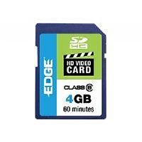 EDGE SDHC HD Video Cards - Flash memory card - 4 GB - Class 6 - SDHC