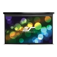 Elite Screens Manual Series M80UWH - Projection screen - ceiling mountable, wall mountable - 80 in (79.9 in) - 16:9 - MaxWhite - black