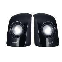 Genius SP-U115 - Speakers - for portable use - 1.5 Watt (total) - gloss black