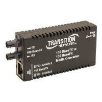 Transition Stand-Alone Mini Fast Ethernet Media Converter - Fiber media converter - Fast Ethernet - 100Base-FX, 100Base-TX - RJ-45 / SC multi-mode - up to 1.2 miles - 1300 nm (M/E-TX-FX-01(SC)-NA)
