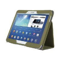 Kensington Comercio Soft Folio Case & Stand - Protective case for web tablet - olive - for Samsung Galaxy Tab 3 (10.1 in) (K97112WW)