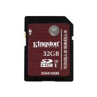 Kingston - Flash memory card - 32 GB - UHS Class 3 - SDHC UHS-I (SDA3/32GB)