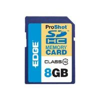 EDGE ProShot - Flash memory card - 8 GB - Class 10 - SDHC