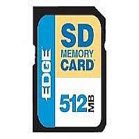 EDGE Digital Media - Flash memory card - 512 MB - SD - for HP Pavilion t880; Panasonic-RR-XR320, SV-SD05, SD75, SD80; ToshibaMEA-110, 210