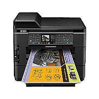 Epson WorkForce WF-7520 - Multifunction printer - color - ink-jet - Ledger/A3 (11.7 in x 17 in) (original) - A3/Ledger (media) - up to 12 ppm (copying) - up to 15 ipm (printing) - 500 sheets - 33.6 Kb