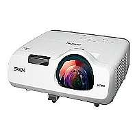 Epson PowerLite 520 - LCD projector - 2700 lumens - 1024 x 768 - 4:3 - short-throw fixed lens - LAN with 2 years Epson Road Service Program