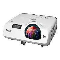 Epson PowerLite 525W - LCD projector - 3200 lumens - 1280 x 800 - 16:10 - HD - short-throw fixed lens - LAN with 2 years Epson Road Service Program