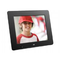 "Aluratek ADMSF108F - Digital photo frame - flash 4 GB - 8"" - 800 x 600 - matte black"