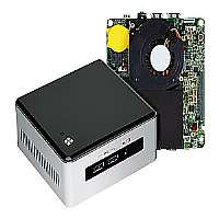 Intel Next Unit of Computing Kit NUC5i3MYHE - Barebone - UCFF - 1 x Core i3 5010U / 2.1 GHz - HD Graphics 5500 - GigE - WLAN