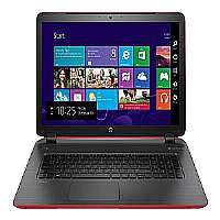 "HP Pavilion 17-f132ds - Core i5 4210U / 1.7 GHz - Windows 8.1 64-bit - 8 GB RAM - 1 TB HDD - DVD SuperMulti - 17.3"" 1600 x 900 ( HD+ ) - Intel HD Graphics 4400 - vibrant red cover, ash silver"