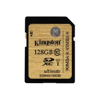 Kingston Ultimate - Flash memory card - 128 GB - UHS Class 1 / Class10 - 300x - SDXC (SDA10/128GB)