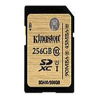 Kingston - Flash memory card - 256 GB - UHS Class 1 / Class10 - 300x - SDXC (SDA10/256GB)
