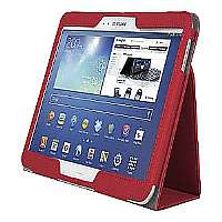 Kensington Comercio Soft Folio Case & Stand - Protective case for web tablet - red - for Samsung Galaxy Tab 3 (10.1 in) (K97113WW)