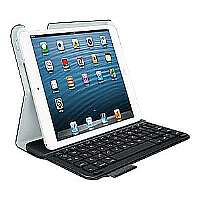 Logitech Ultra Thin Keyboard Folio - Keyboard and folio case - Bluetooth - for Apple iPad mini; iPad mini with Retina display