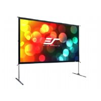 Elite Screens Yard Master 2 Series OMS100H2 - Projection screen with legs - 100 in ( 254 cm ) - 16:9 - CineWhite - silver