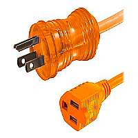 C2G 16AWG Hospital Grade Power Extension Cable - Power extension cable (300 VAC) - NEMA 5-15 (M) - NEMA 5-15 (F) - 25 ft - orange (48074)