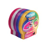 Maxell - Storage CD slim jewel case - capacity: 20 CD (190073)