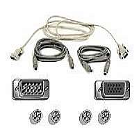 Belkin PRO Series OmniView - Keyboard / video / mouse (KVM) cable kit - 6 pin PS/2, HD-15 (M) - 6 pin PS/2, HD-15 - 6 ft
