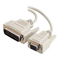 C2G - Modem cable - DB-9 (F) - DB-25 (M) - 15 ft - gray