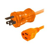C2G Hospital Grade Power Extension Cord - Power extension cable (125 VAC) - NEMA 5-15 (M) - NEMA 5-15 (F) - 8 ft - orange (48072)