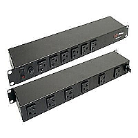 "CyberPower CPS-1220RM-Power distribution unit ( rack-mountable )-AC 110/120 V-2400 VA-12 output connector(s)-1U-19""-CPS-1220RM"