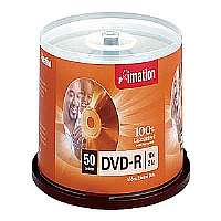 IMATION - DVD-R, 16x, 4.7GB, Branded, 50/PK, Silver - 17341