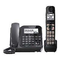 PANASONIC KX-TG4771B DECT 6.0 PLUS CORDED/CORDLESS PHONE SYSTEM WITH TALKING CALLER ID and DIGITAL ANSWERING SYSTEM (CORDED BASE SYSTEM and SINGLE H